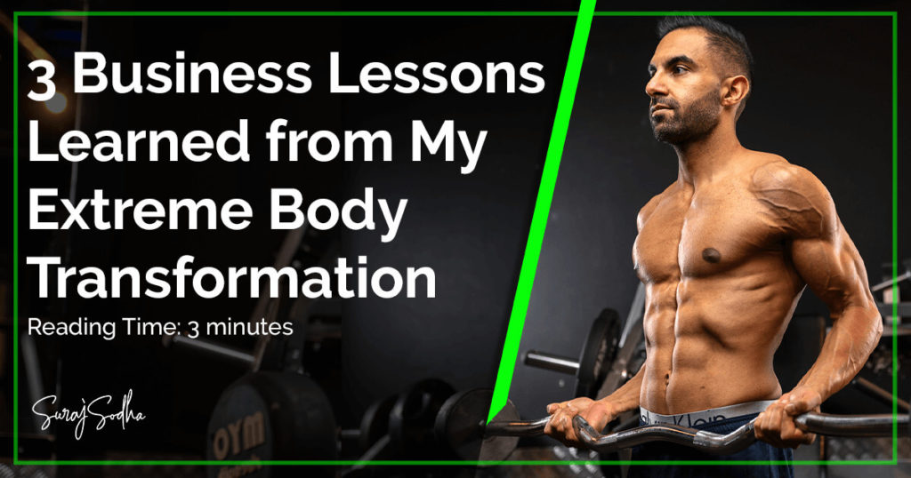 Business Lessons Learned from a Extreme Body Transformation